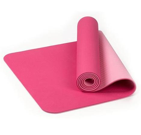 TPE Thick Non-slip Gym Fitness Exercise Yoga Mat - Pink