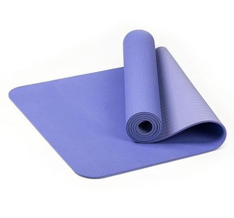TPE Thick Non-slip Gym Fitness Exercise Yoga Mat - Violet