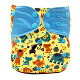 Design Reusable cloth diaper with color button and color tabs * Pororo Baby Diaper - Periwinkle Online