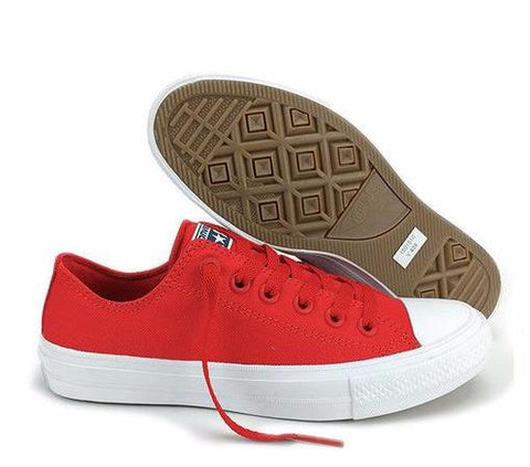 Converse Chuck Taylor All Star II Canvas Shoes 150149C - Low (Red)