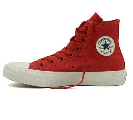 Converse Chuck Taylor II All Star Unisex Sneakers Canvas Shoes 150145C - High (Red/White)