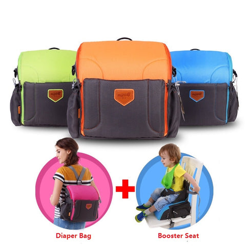 Free Shipping | 2 IN 1 Portable baby Booster Seats Nappy bag diaper backpack MamboBaby - iWynx