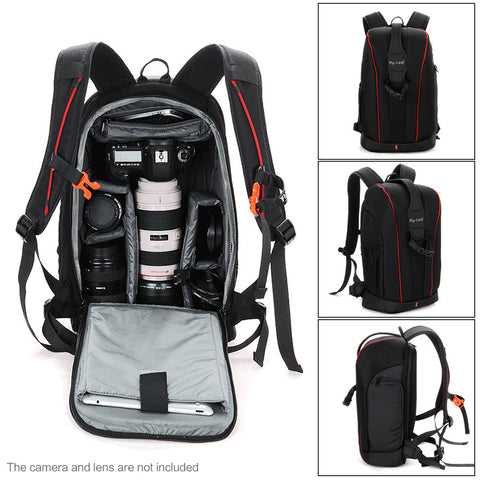 Water-resistant Shockproof DSLR Backpack for Sony, Nikon and Canon