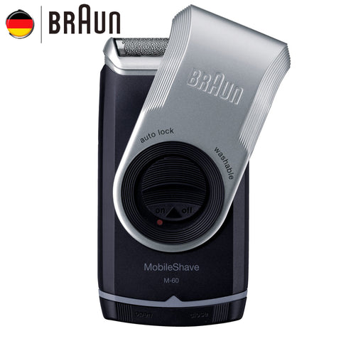 Electric Shaver M60 Metallic silver Portable Washable Face Care Hair Mustache Razor Safety * Braun Grooming - Periwinkle Online