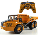 RC truck Big Dump Truck Engineering Vehicles Loaded Sand Car with LED light and Sound
