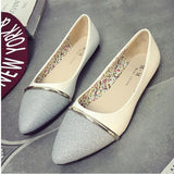 Spring Fashion Women Flat Shoes Pointed Toe Soft Outsole Plus Size 40 B266 * WZV Women Slip-on Flat Shoes - Periwinkle Online