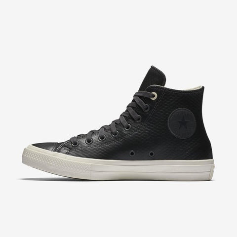 Converse All Star Unisex Leather Sneakers 153554 - High (Black)
