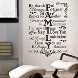 inspiration quote Vinyl Wall Decal all sticker/wedding living room decoration creative art * Zooyoo Wall Decals - Periwinkle Online