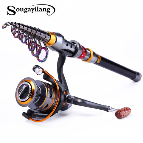 Sougayilang 1.8-3.6m 10+1BB Carbon Materials Combo Telescopic Rod
