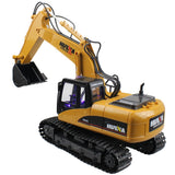 RC Excavator 15 CH 2.4G Metal Electric USB Charging LED Flashing Light and Sound