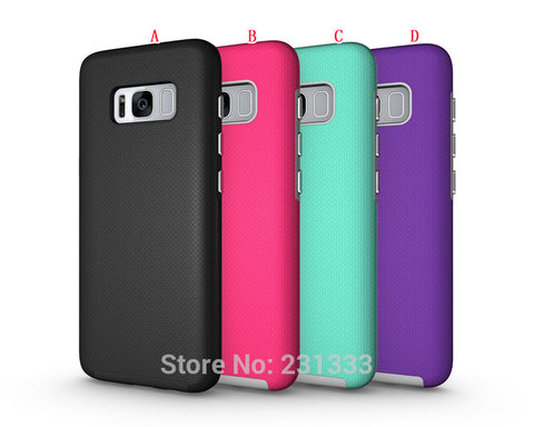 Armor Anti-slip TPU + PC Hard Case For Samsung Galaxy S8 PLUS S7 EDGE J7 Prime S6 J3 A5 LG X C-Ku - Periwinkle Online