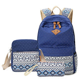 Vintage Canvas Bag Women Travel School Backpack Rucksack * OKKID Backpack - Periwinkle Online