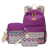 Vintage Canvas Bag Women Travel School Backpack Rucksack