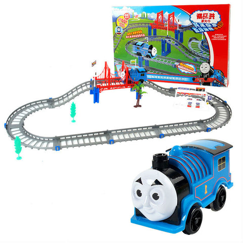 Diecast DIY Roller Coaster track Electric Electronic Trains Set With Rail