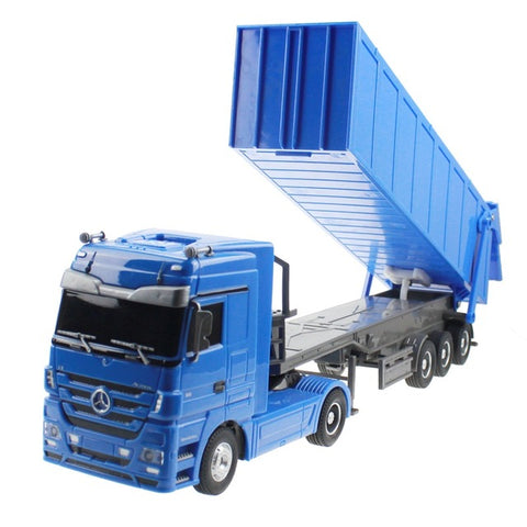 1:32 Dumper Truck 10 Wheel 6CH Radio Control Automatic Lift Engineering Container Truck Hugine - Periwinkle Online