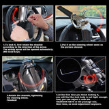 Universal Foldable Car Steering Wheel Lock Car Anti-Theft Security Lock With Keys