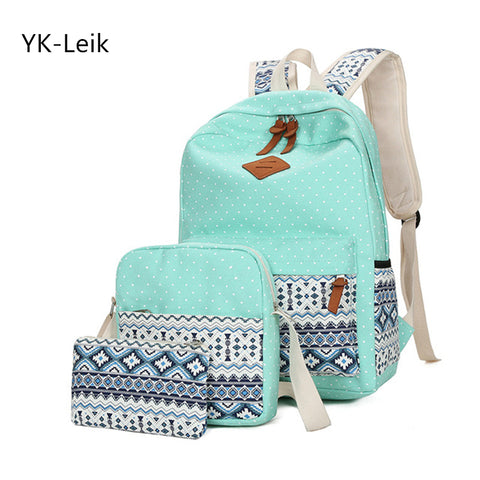 YK-Leik High quality canvas school bag