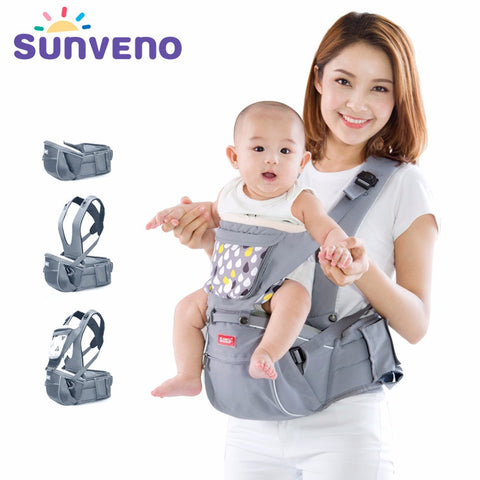 Sunveno Designer Baby Carrier Infant Toddler Front Facing Carrier Sling Hipseat 0-36Months