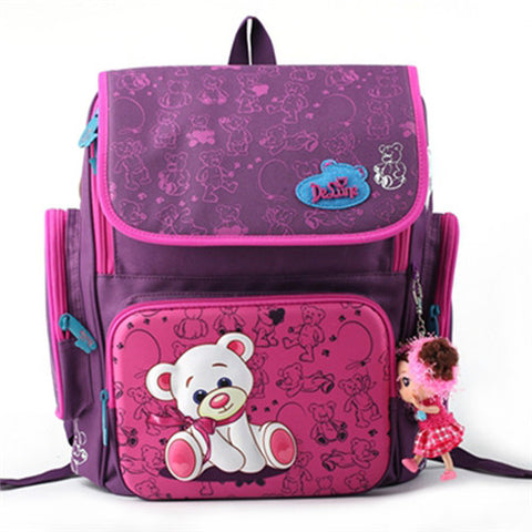 Delune Unisex Orthopedic Children School Backpacks * Delune Backpack - Periwinkle Online
