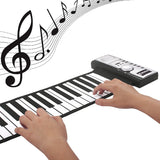 Portable Flexible 61 Keys Silicone MIDI Digital Soft Roll Up Piano