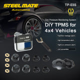 Steelmate TP-03S TPMS Tire Pressure Monitoring System with LCD Display 4 Valve-cap External Sensors * Steelmate Tire Pressure Monitor - Periwinkle Online