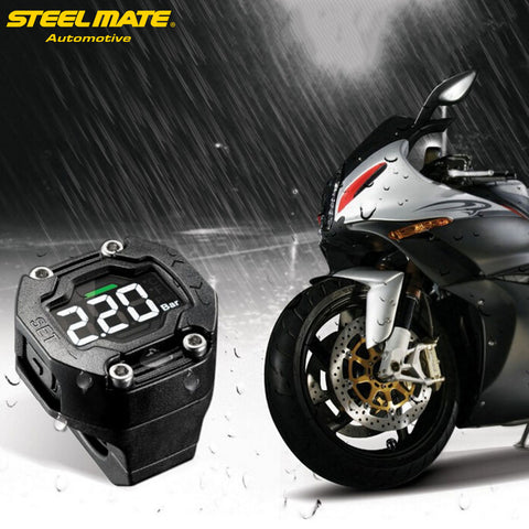 ET-900AE DIY TPMS Tire Pressure Monitor Motorcycle with External Sensor Wireless LCD Display * Steelmate Tire Pressure Monitor - Periwinkle Online