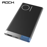 ROCK 10000mAh Power Bank External Battery with Dual Input Ports