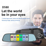 D580 6.86 Inch LCD Car DVR Night Vision Dual Lens Rearview Mirror Video Recorder DVR * Jado Dashcam - Periwinkle Online