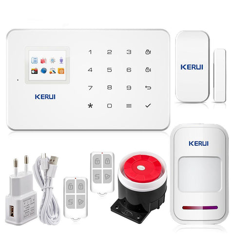 KERUI G18 TFT Touch GSM Wireless IOS/Android Control Burglar Security Alarm System