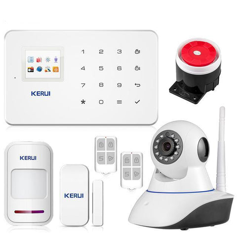 G18 TFT Touch GSM Wireless IOS/Android Control Burglar Security Alarm System * Kerui Burglar Security Alarm - Periwinkle Online