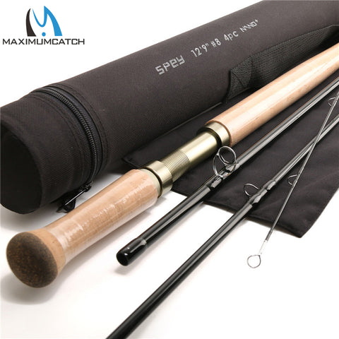 Maximumcatch 12.9FT 8WT 4PCS  Medium-Fast Action With Cordura Tube Carbon Fly Rod