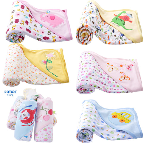 DANROL 70*75cm born Cotton Double-Sided Blankets Bath Towel Swaddle * Danrol Baby Blankets - Periwinkle Online