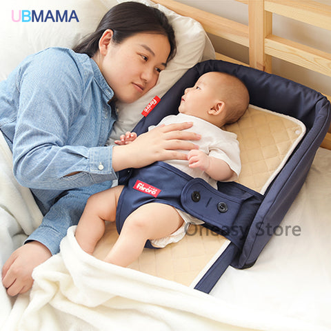 High Quality Portable Folding Baby Bed/ Highchair 0-5 years old * UbMama Baby Portable Bed / Crib - Periwinkle Online