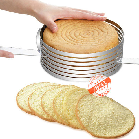 Marx Adjustable Stainless Steel Bread Cake Mousse Slicer Cutter Ring Mold