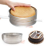Marx Adjustable Stainless Steel Bread Cake Mousse Slicer Cutter Ring Mold * Marx Baking Essentials - Periwinkle Online