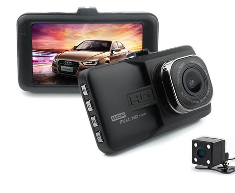 JUEFAN 1080p High-definition car video recorder DVR black box car mirror camera Dual camera lens