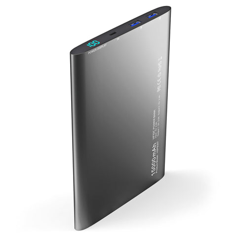 VINSIC VSPB207 15000mAh Power Bank Ultra Slim Dual Output Quick Charge