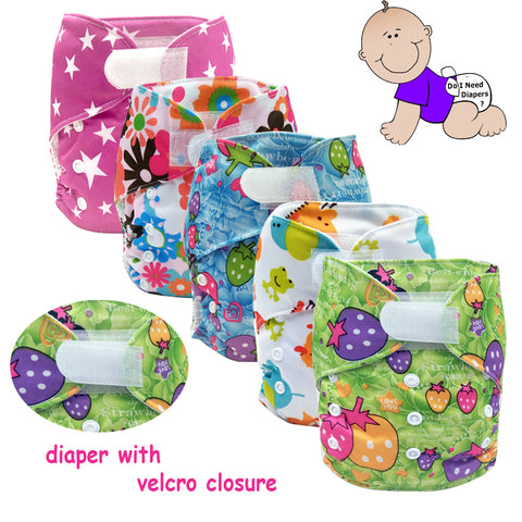 Waterproof TPU coating breathable baby cloth diaper nappies with hook and loop,