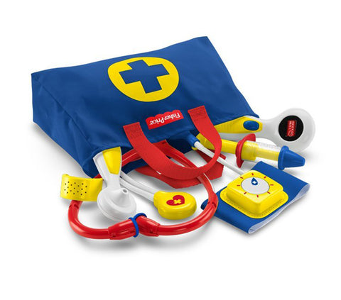 Fisher Price Baby Doctor Medical Kit Blue Toddler Preschool Learning Toy FFY72