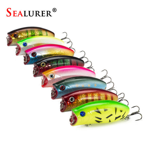Free Shipping | 5.5cm 11g 3D Eyes Lifelike Wobbler Popper Fishing Lure Pesca Isca Fly Hard Bait Crankbait 8pcs/lot SeaLurer - iWynx