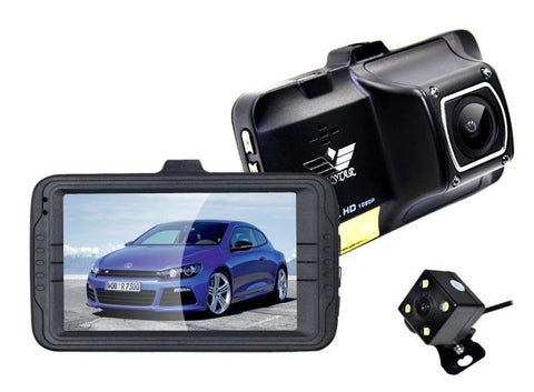 "ANSTAR 3"" Dual Lens full hd car camera Rearview Video Recorder Vehicle Blackbox Dashcam Night Vision"