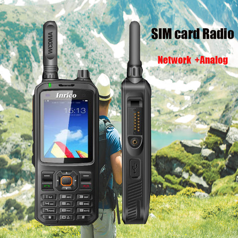 GSM/WCDMA Network Radio Walkie Talkies 4000mAh Battery Transceiver Equipment SIM card 2 way Radio
