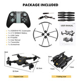 VISUO XS809HW XS809W WIFI FPV Foldable Arm FPV Quadcopter With 2MP 0.3MP Camera * Topacc Camera Drone - Periwinkle Online