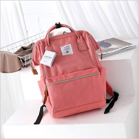 Anello Ring Large Rucksack Unisex Backpack (Pink) Anello AliExpress - Periwinkle Online