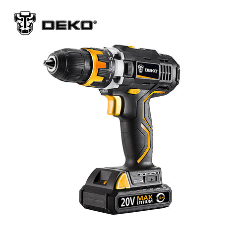 DEKO GCD20DU2 20V DC Household DIY Woodworking Lithium-Ion Battery Cordless Drill/Driver * Deko Power Tools - Periwinkle Online