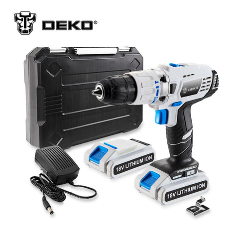 DEKO GCD18DU3 18V DC Mobile Power Supply Lithium-Ion Battery Cordless Impact Drill * Deko Power Tools - Periwinkle Online