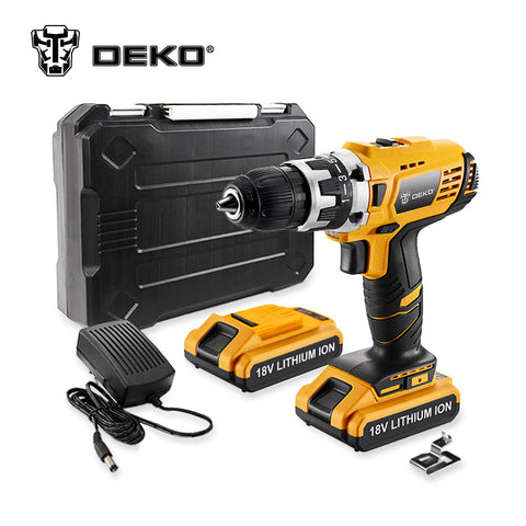 DEKO GCD18DU2 18V DC Mobile Power Supply Lithium-Ion Battery Cordless Drill/Driver * Deko Power Tools - Periwinkle Online