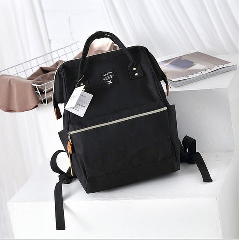 Anello Ring Large Rucksack Unisex Backpack (Black) Anello AliExpress - Periwinkle Online