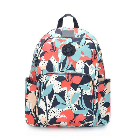 Findpop Floral Large Capacity Anti-Theft Backpack * Findpop Backpack - Periwinkle Online