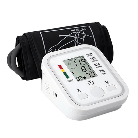Portable Automatic Health Monitor Heart Beat Arm Blood Pressure LCD Digital Meter
